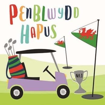 Golf - Penblwydd Hapus - Card
