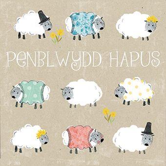 Welsh Sheep - Penblwydd Hapus - Card
