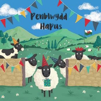 Sheep - Penblwydd Hapus - Card