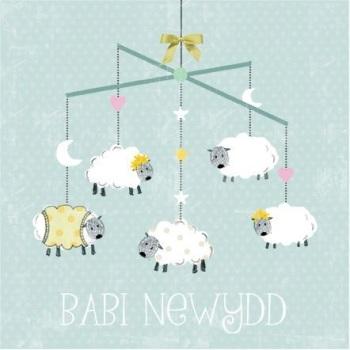 Sheep - Babi Newydd - Card