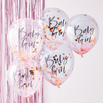 Rose gold Girl - Confetti Balloons