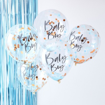 Rose gold Boy - Confetti Balloons