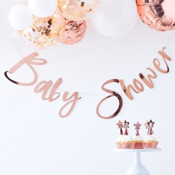 Rose Gold Baby Shower - Bunting