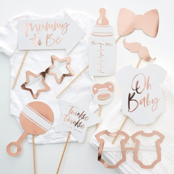 Rose Gold Baby - Photo Props