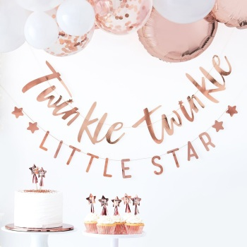 Rose Gold Twinkle Twinkle - Bunting