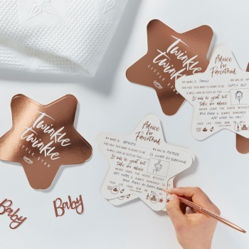 Rose gold - Baby Advice Cards