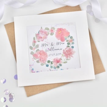 Floral Ring - Personalised Wedding - Confetti Card