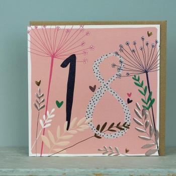 Floral Foil - 18 - Card
