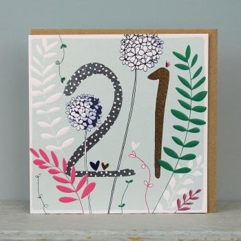 Floral Foil - 21 - Card