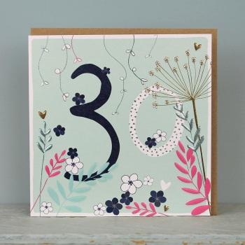 Floral Foil - 30 - Card