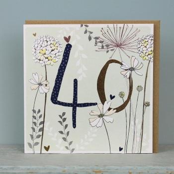 Floral Foil - 40 - Card