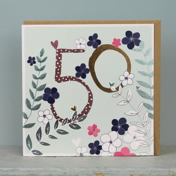 Floral Foil - 50 - Card