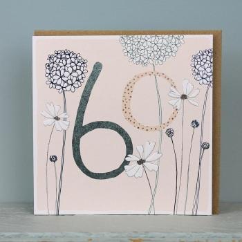 Floral Foil - 60 - Card