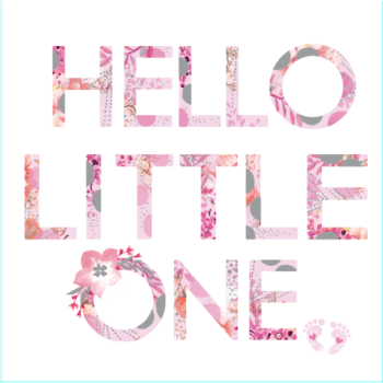 Hello Little One - Pink - Card