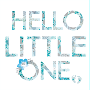 Hello Little One - Blue - Card