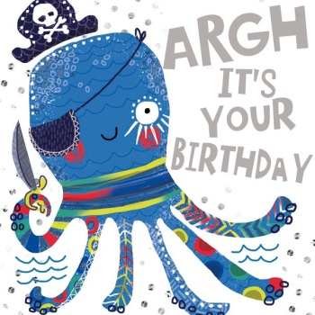 Arghhh Octopus - Card