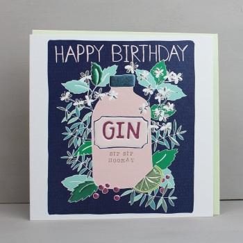 Happy Birthday Gin - Card