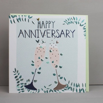 Happy Anniversary Glasses - Card