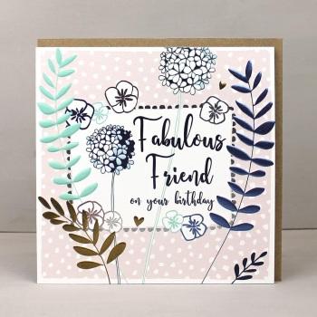 Fabulous Friend Birthday - Card