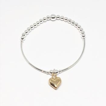 Heart Noodle Bracelet - Gold