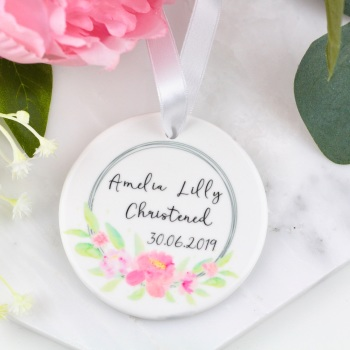 Christening Ring - Personalised - Decoration