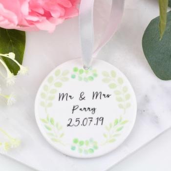 Greenery Circle - Personalised Wedding - Decoration