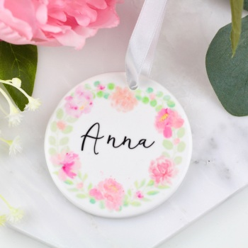 Floral Circle - Personalised - Decoration