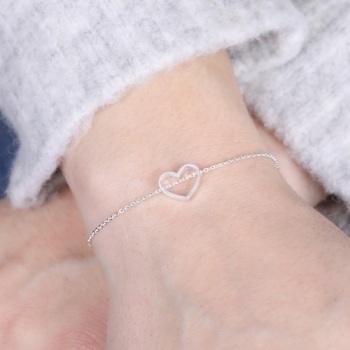 Silver Heart Chain - Bracelet