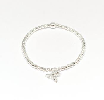 Bee Noodle Bracelet - Silver