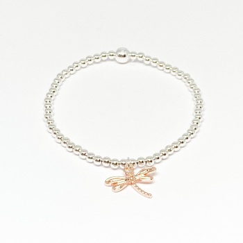 Dragonfly Bracelet - Rose Gold