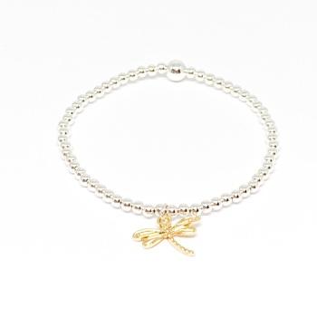 Dragonfly Noodle Bracelet - Gold