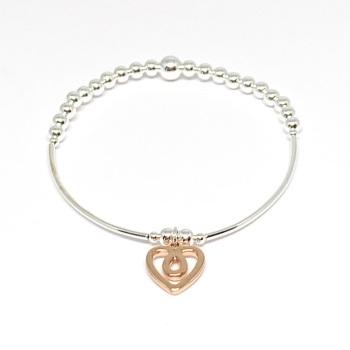 Naomi Heart Bracelet - Rose Gold