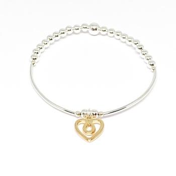 Naomi Heart Bracelet - Gold