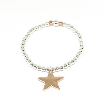 Katie Star Bracelet - Rose Gold