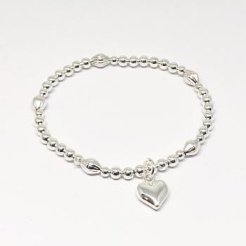 Catrina Heart Bracelet - Silver