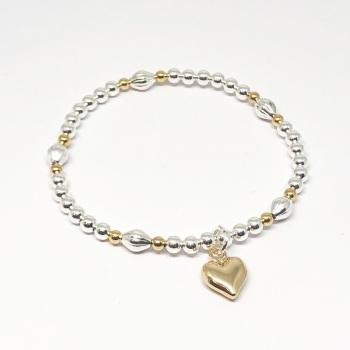 Catrina Heart Bracelet - Gold