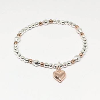 Catrina Heart Bracelet - Rose Gold