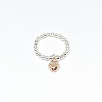 Heart Ring - Rose Gold