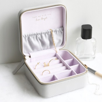 Grey  - Square Jewellery Case