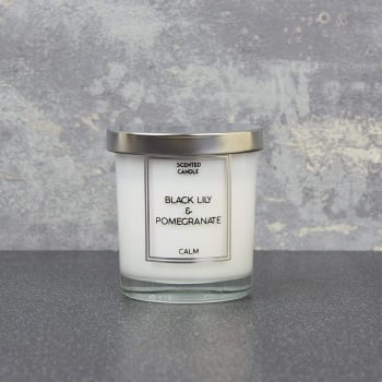 Black Lily & Pomegranate  -  Small Candle