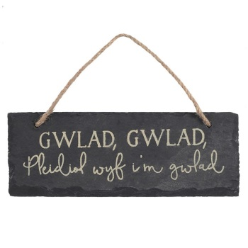 Gwlad, gwlad - Slate Decoration