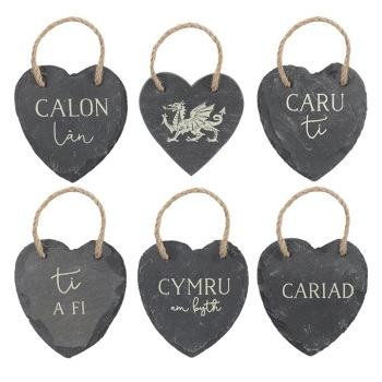 Welsh Heart - Slate Decoration