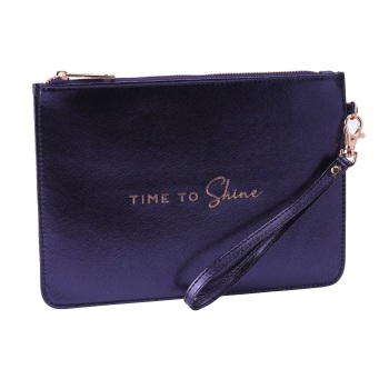 Time To Shine - Navy Pouch Bag