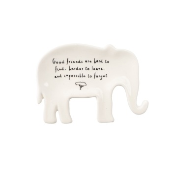 Elephant Good Friends - Jewellery Dish/Trinket
