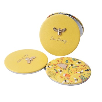 Bee Happy - Compact Mirror