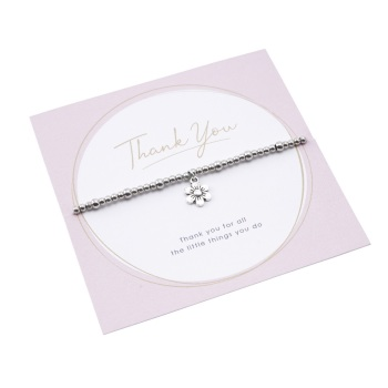 Thank You - Flower Bracelet