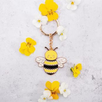 Bee - Enamel Keyring
