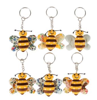Bee - Fabric Keyring