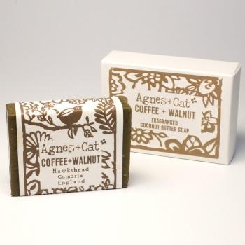 Coffee & Walnut - Coconut Butter Soap