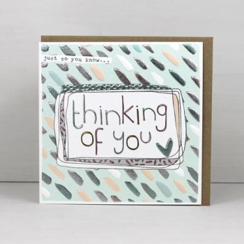 Thinking of you hearts - Card